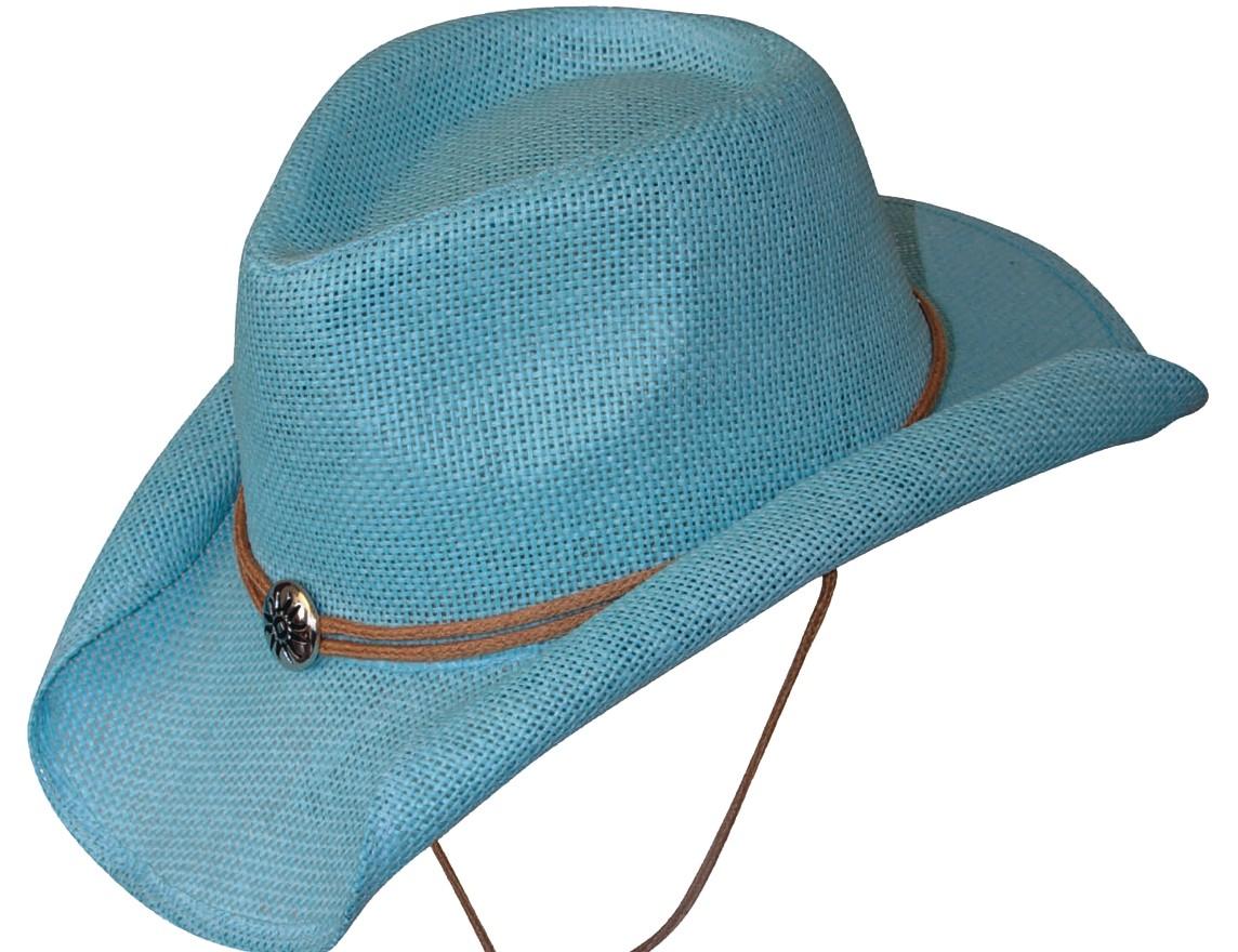 Scippis Strohhut Westernhut Cowboyhut »SUNNY« Blau