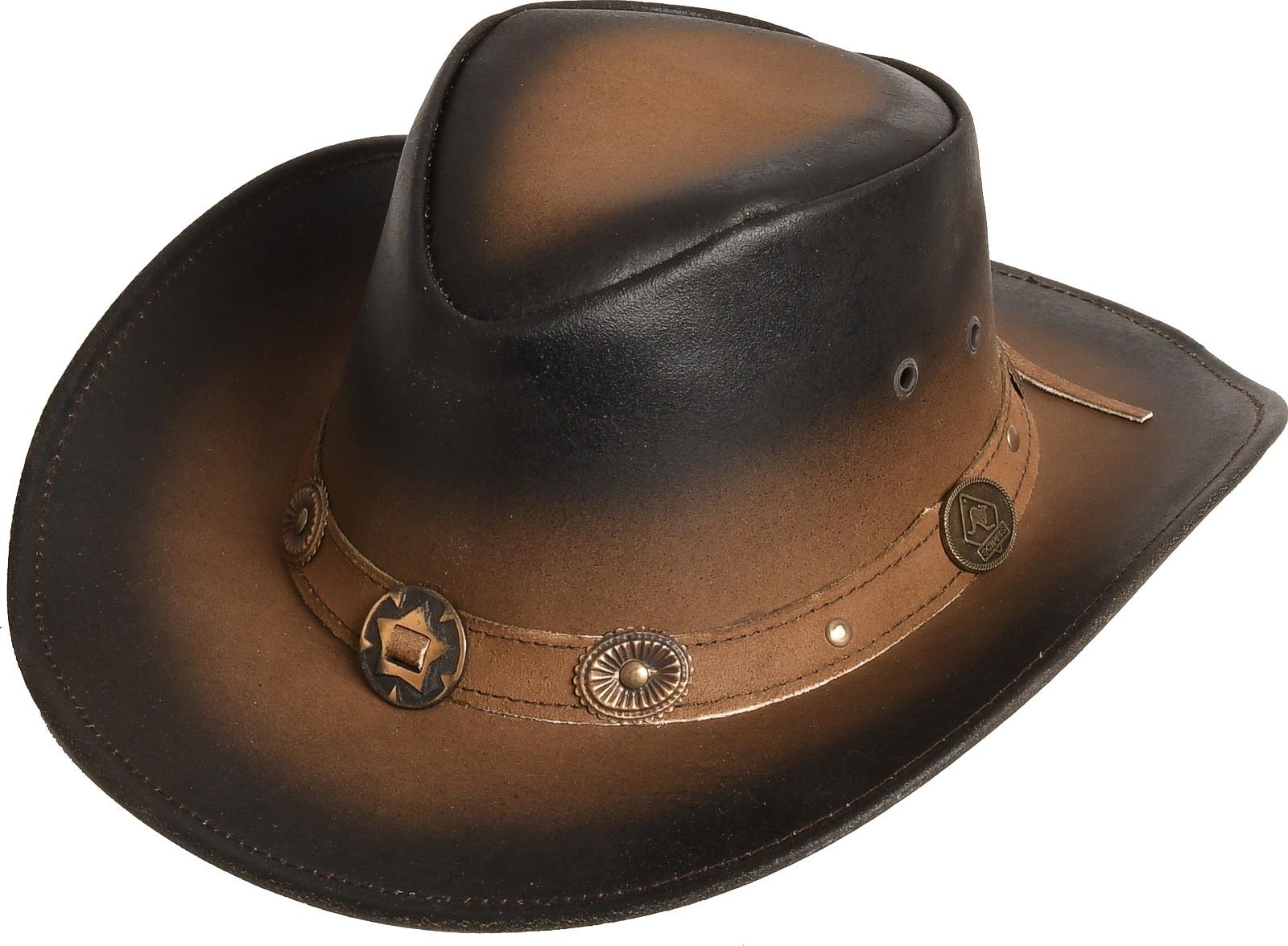 Rugged Earth Leder Westernhut Cowboyhut »Tombstone« Stonewash