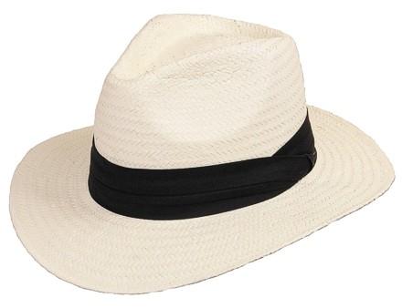 Scippis Strohhut Bogarthut Sommerhut Panama »MINEO« White Weiß