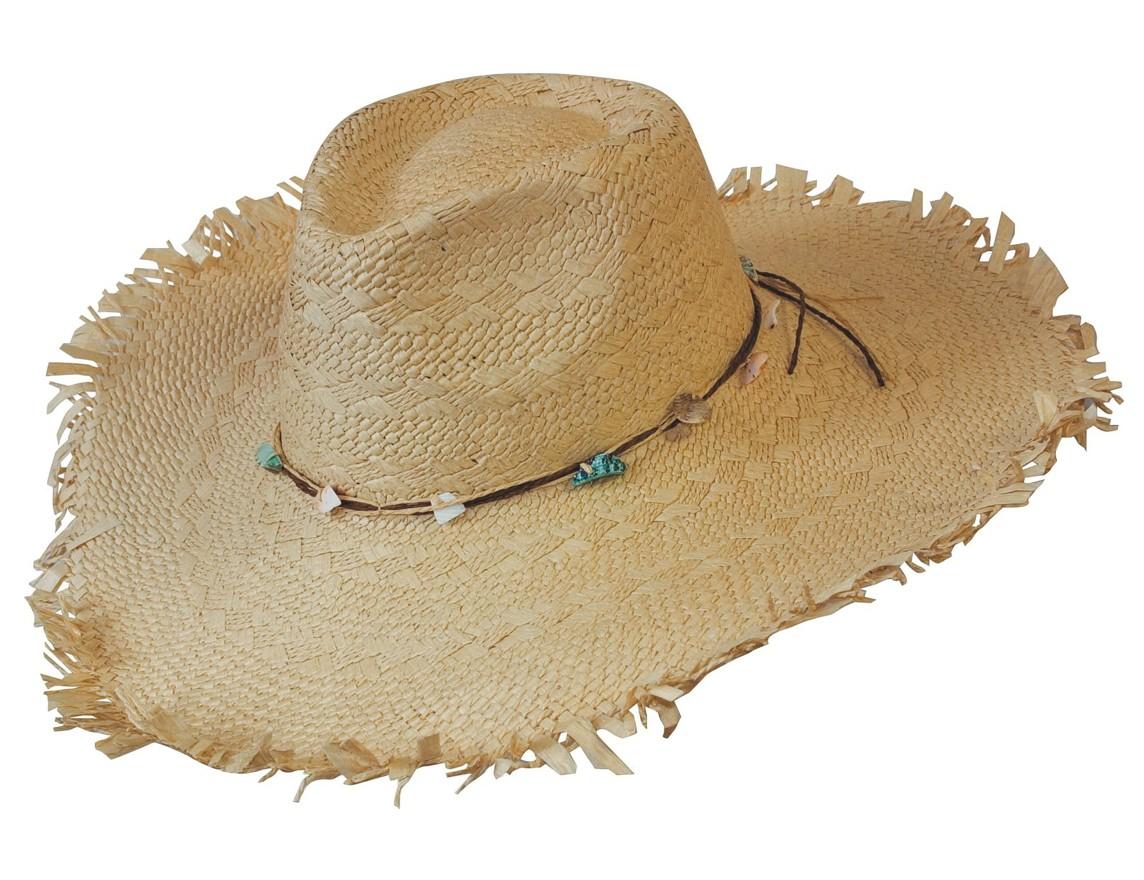 Scippis Strohhut Havanna Western Beach Style »ISLANDER« Natur