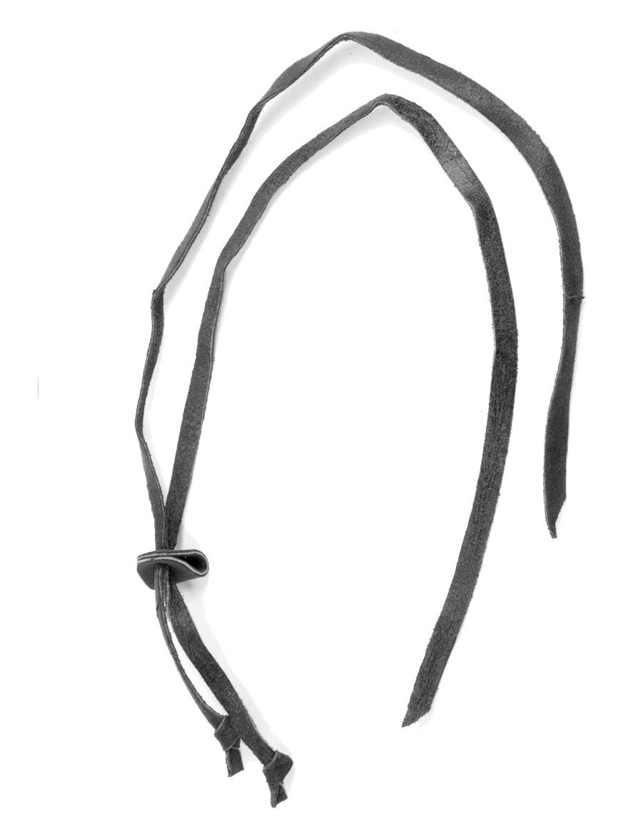 Scippis Leder-Kinnriemen Black Schwarz
