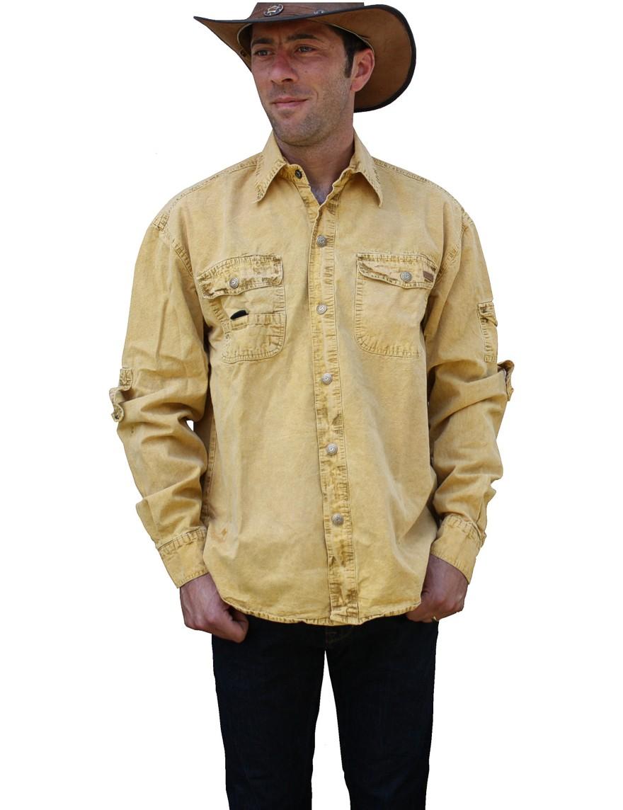 Scippis »Cowra« Canvas Shirt im Hemden-Style Mustard