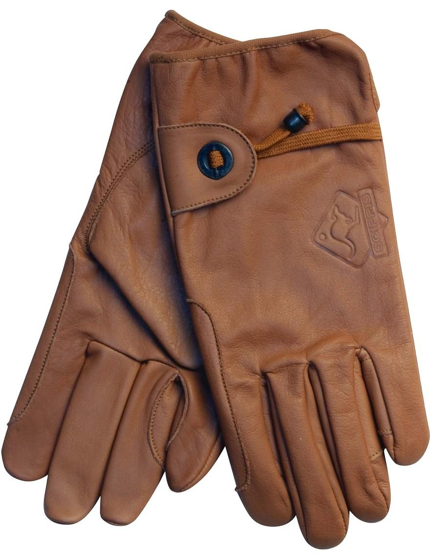 Scippis Leder-Handschuhe Brown Braun