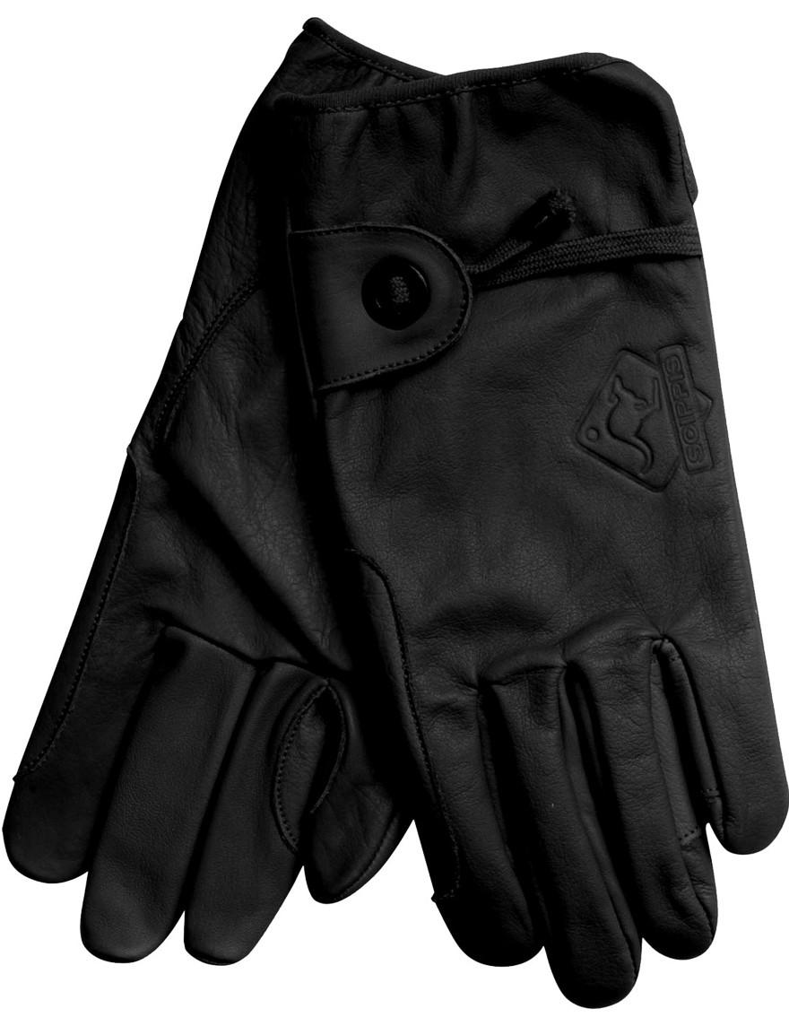 Scippis Leder-Handschuhe Schwarz