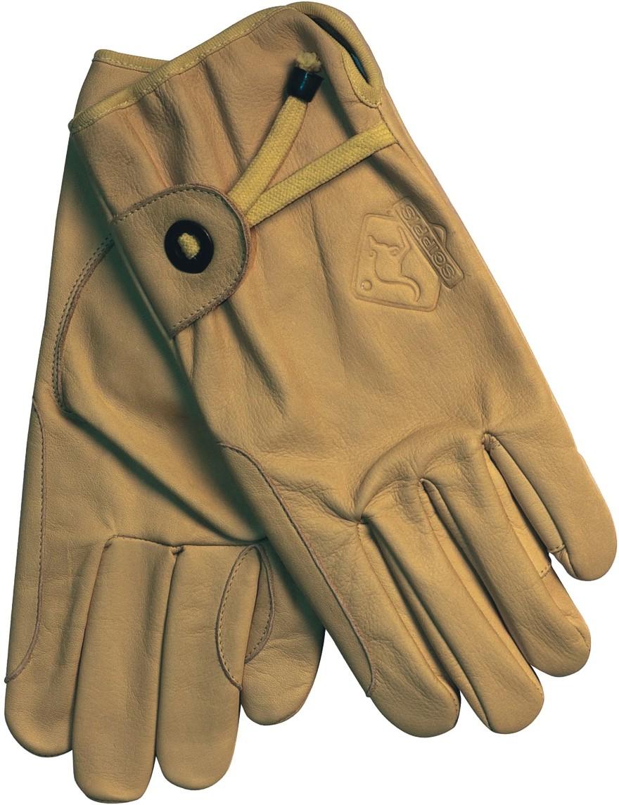 Scippis Leder-Handschuhe Tan