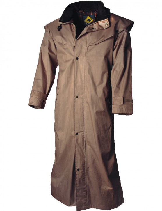 Black Roo »Stockman Coat« Mantel für Cowboys Biker BEIGE