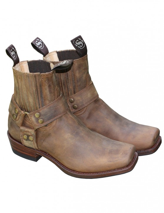 Sendra Stiefelette Mad Dog Tang Lavado Blues Braun