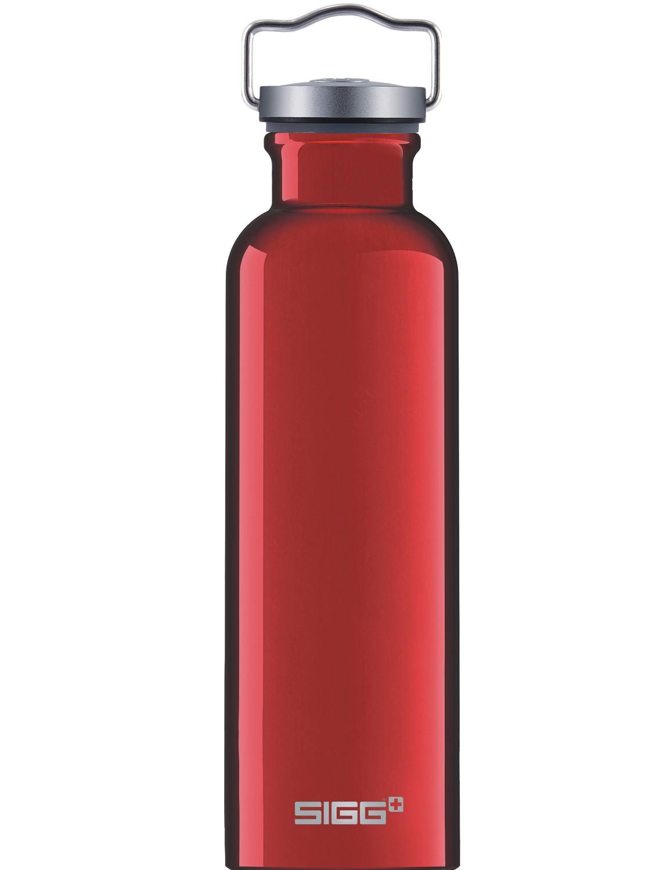 SIGG Trinkflasche 0.75 l ALU »Original« Red Rot mit Retro Deckel