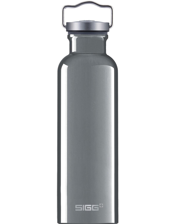 SIGG Trinkflasche 0.75 l ALU »Original« Silber mit Retro Deckel