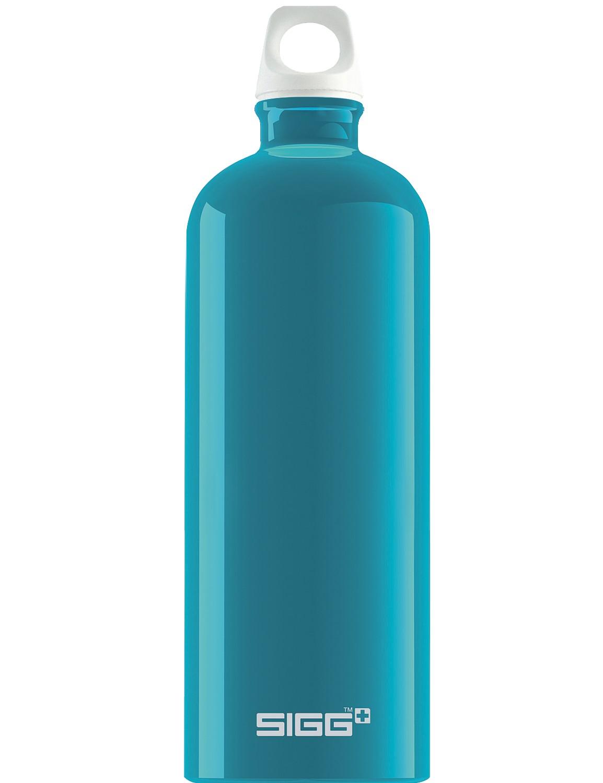 SIGG Trinkflasche 1.0 l ALU »Traveller« Fabulous Aqua Blau