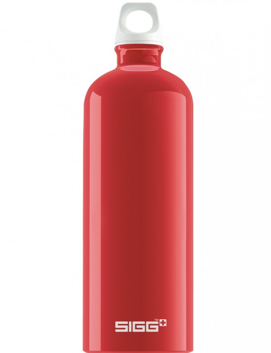 SIGG Trinkflasche 1.0 l ALU »Traveller« Fabulous Red Rot