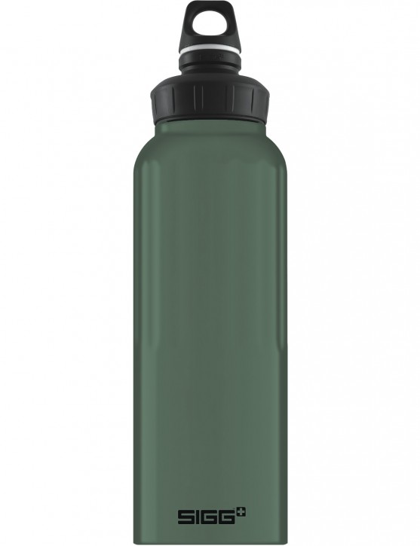SIGG Trinkflasche 1.5 l WMB ALU »Traveller« Leaf Green Touch Oliv Grün