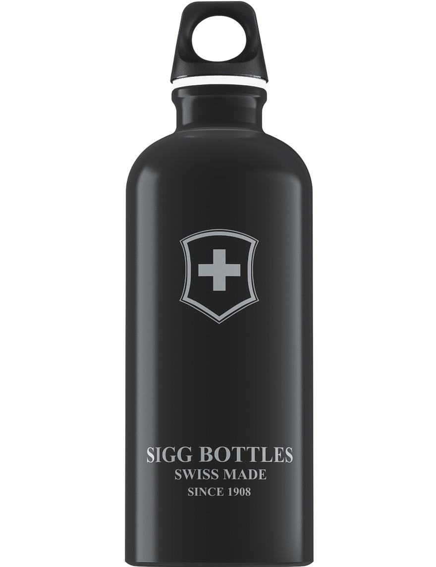 SIGG Trinkflasche 0.6 l Swiss Emblem Schwarz