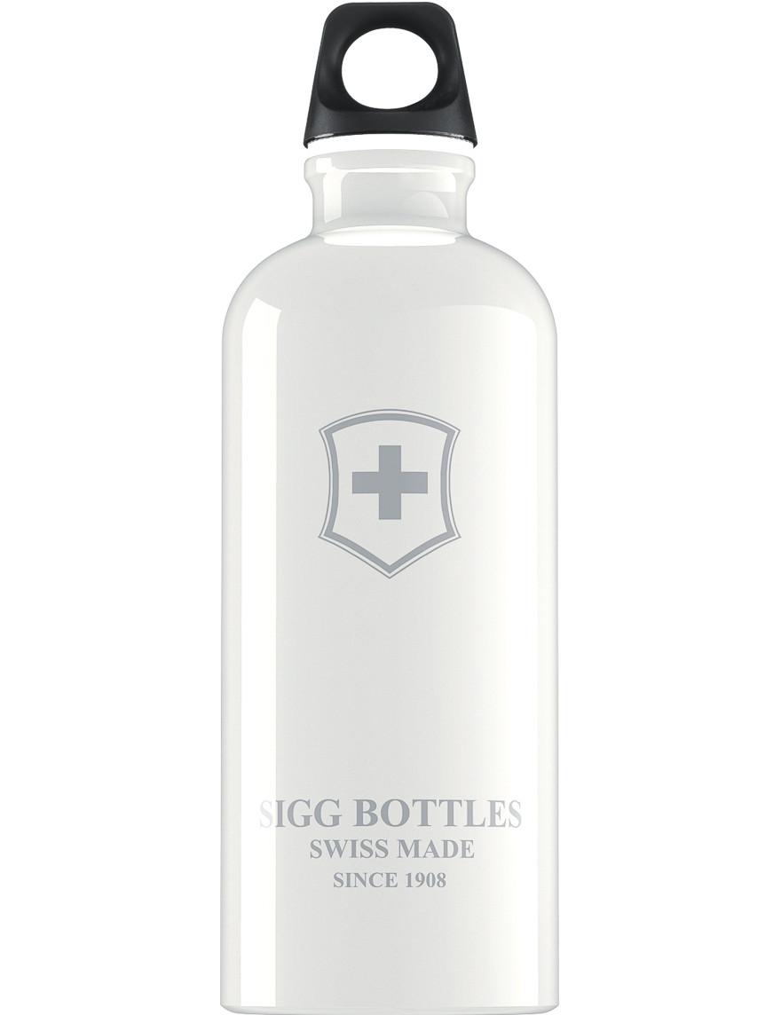 SIGG Trinkflasche 0.6 l Swiss Emblem Weiß