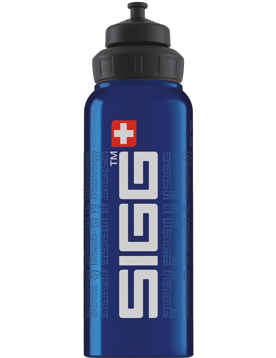 SIGG Trinkflasche 1.0 l Wide Mouth SIGGnature Blue
