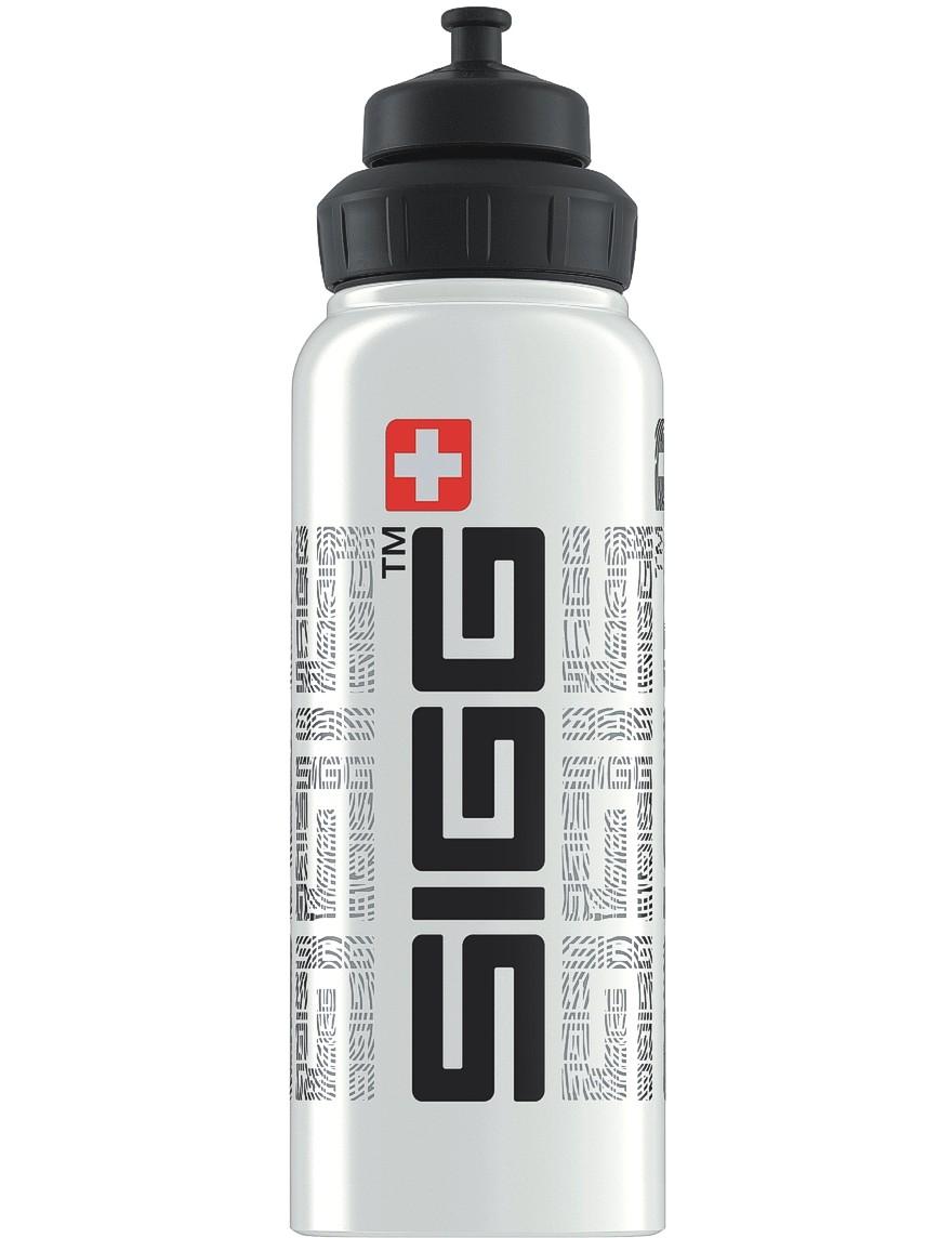 SIGG Trinkflasche 1.0 l Wide Mouth SIGGnature White