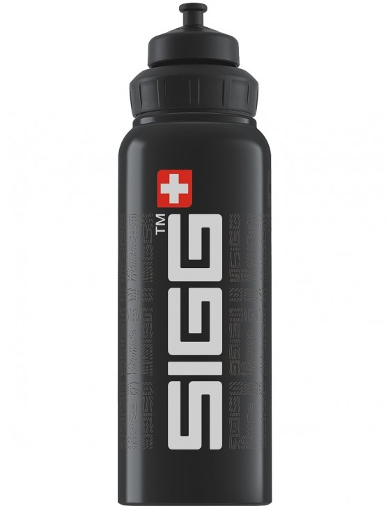 SIGG Trinkflasche 1.0 l Wide Mouth SIGGnature Black