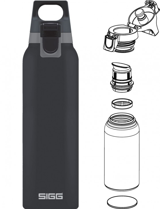 SIGG »Hot & Cold« Thermosflasche Isolierflasche 0.5 L ONE Shade / Anthrazit