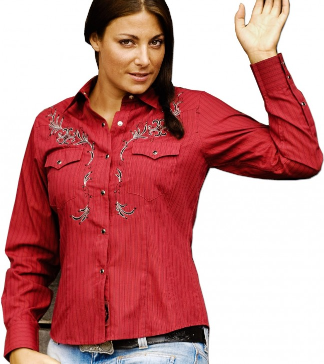 Stars & Stripes Damen Westernbluse »BONNIE« Rot