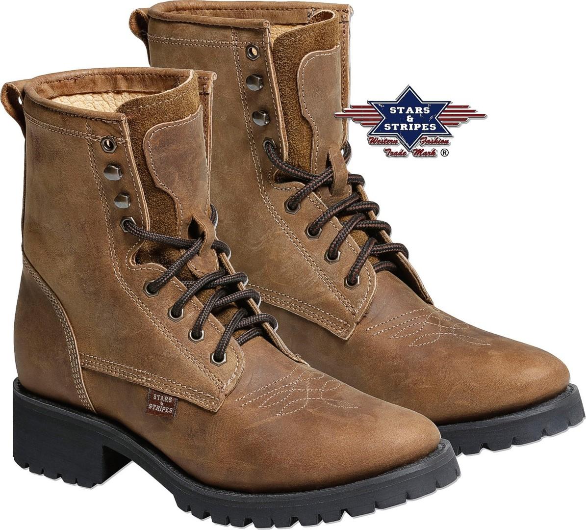 Stars & Stripes Western-Boots Westernstiefel »WB34« Braun