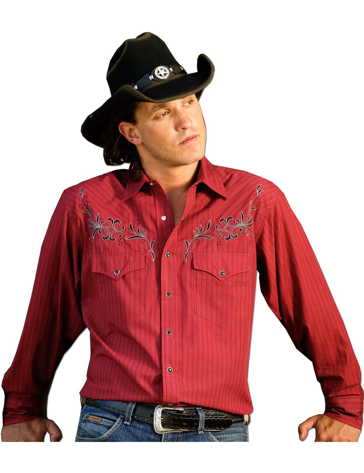Stars & Stripes Herren Westernhemd »CLYDE« Rot