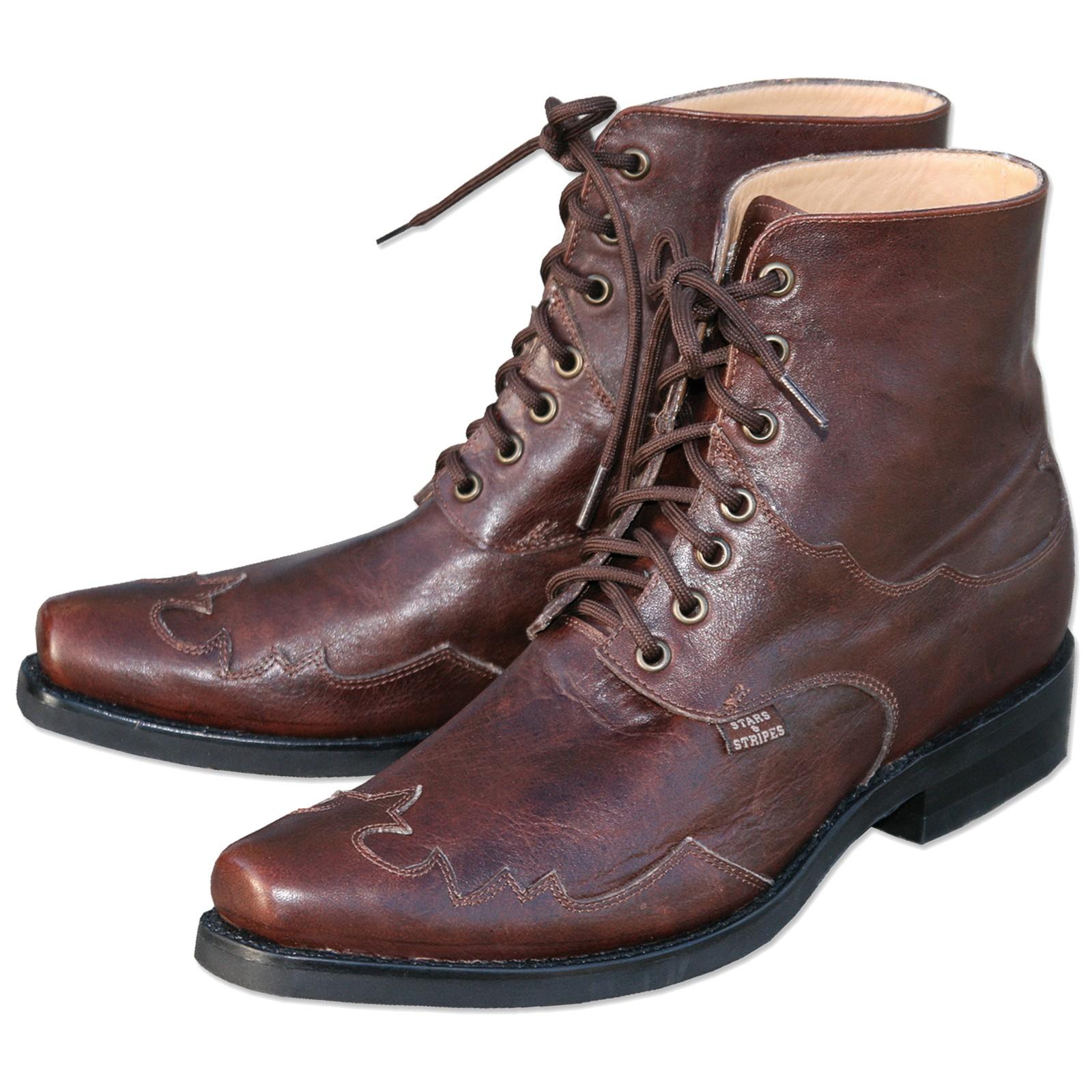 Stars & Stripes Herren Stiefel Western Boots »HENDERSON« Braun