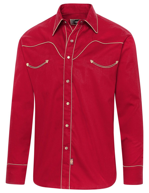 Stars & Stripes Herren Westernhemd »JACK« Rot