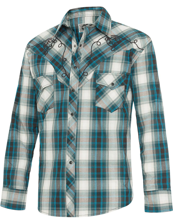 Stars & Stripes Herren Westernhemd »JEFF BLUE«