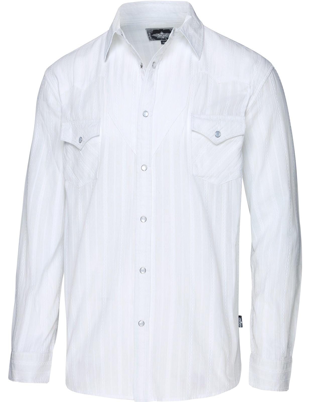 Stars & Stripes Herren Westernhemd »ROBIN WHITE«
