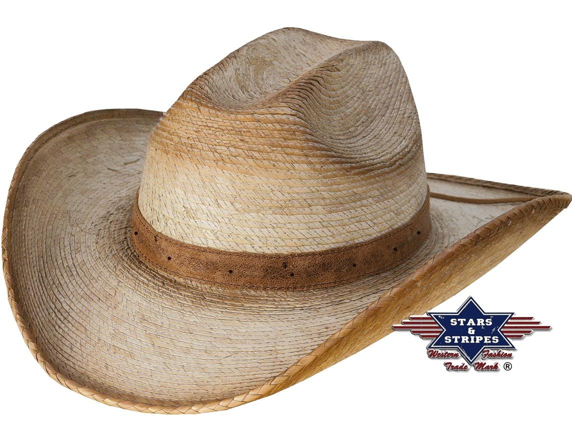 Stars & Stripes Strohhut Westernhut Cowboyhut »MILO«