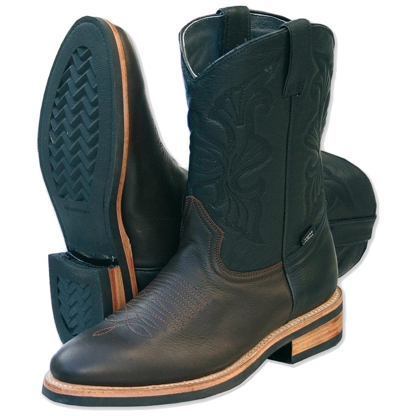 Stars & Stripes Herren Damen Stiefel Western Boots »WB-13« Braun / Schwarz