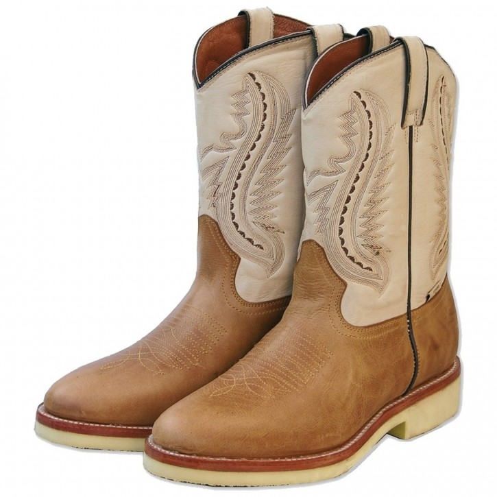 Stars & Stripes Herren Damen Stiefel Western Boots »WB-16« Braun / Beige