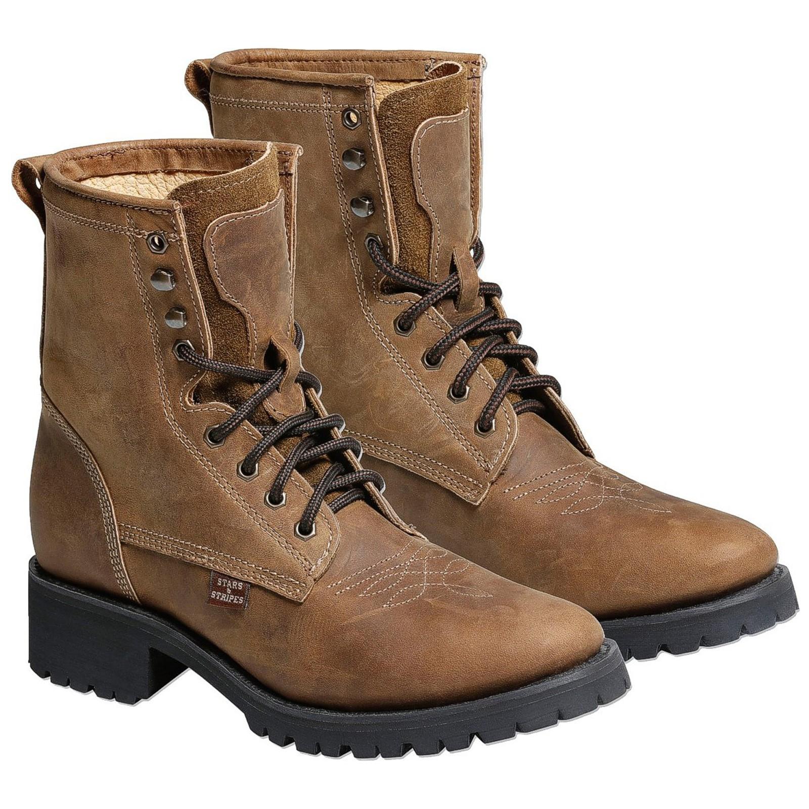 Stars & Stripes Herren Damen Stiefel Western Boots »WB34« Braun