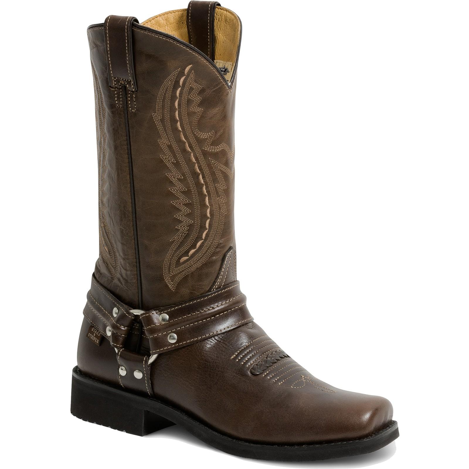 Stars & Stripes Herren Damen Stiefel Western Boots »WB-36« Braun
