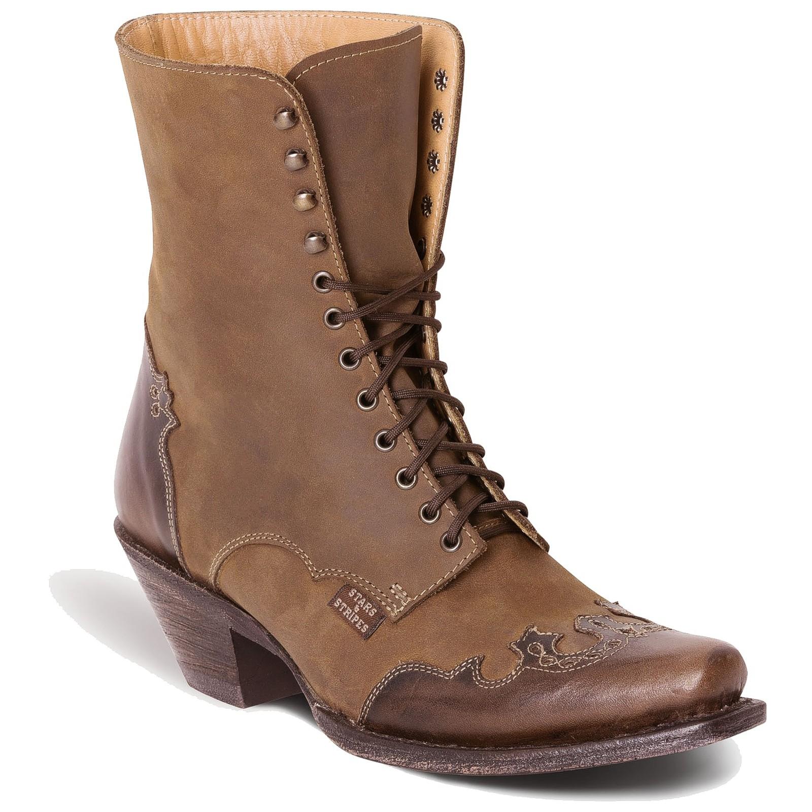 Stars & Stripes Damen Stiefel Western Boots »WBL-31« Braun