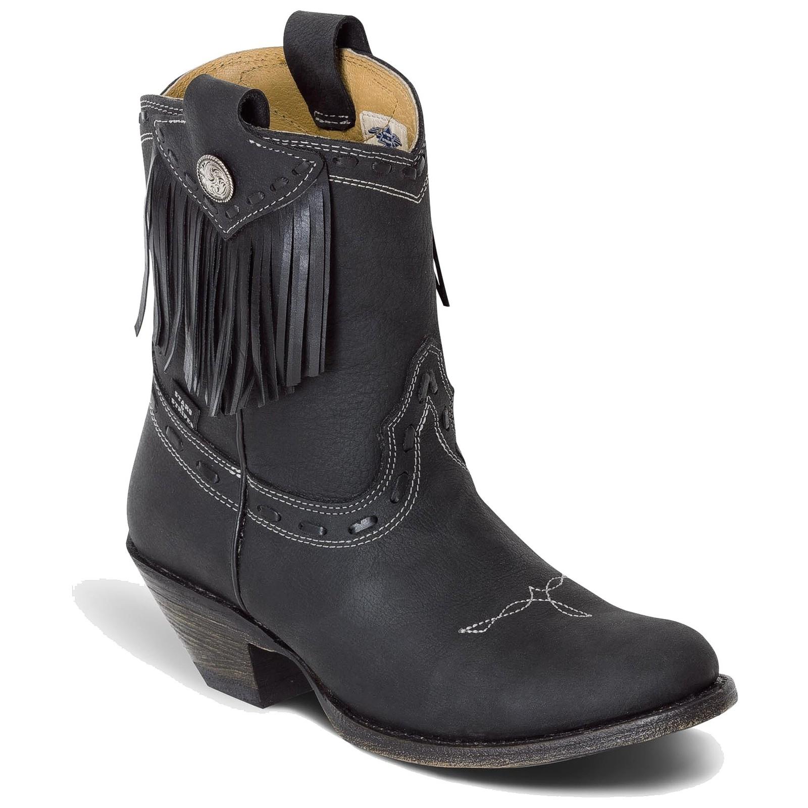 Stars & Stripes Damen Stiefel Western Boots »WBL-32« Schwarz