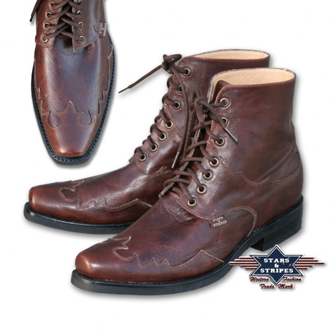 Stars & Stripes Western-Boots »HENDERSON« Braun