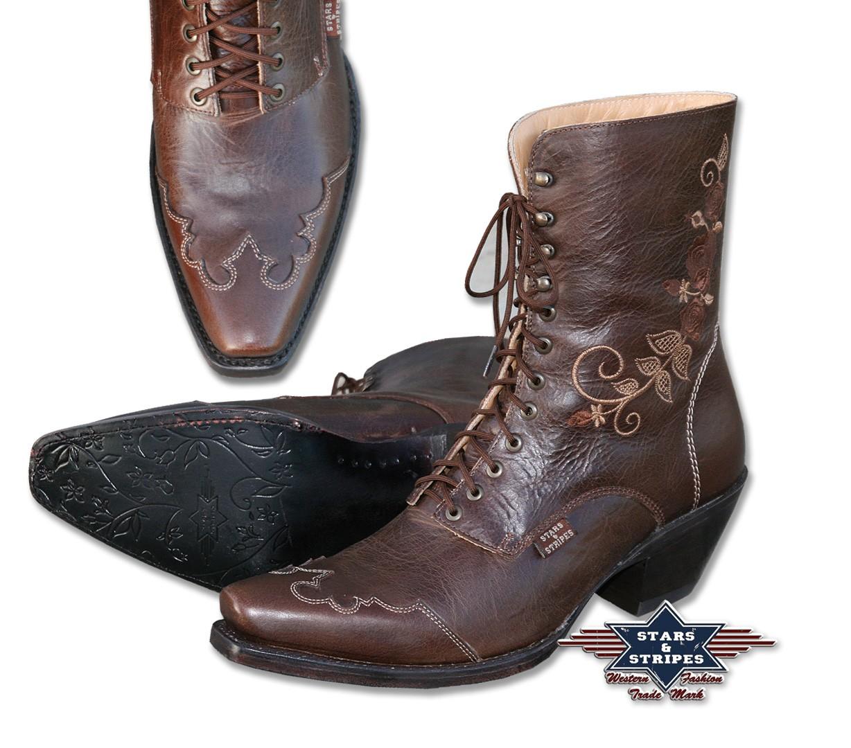Stars & Stripes Damen Western-Boots »ROSI« Braun
