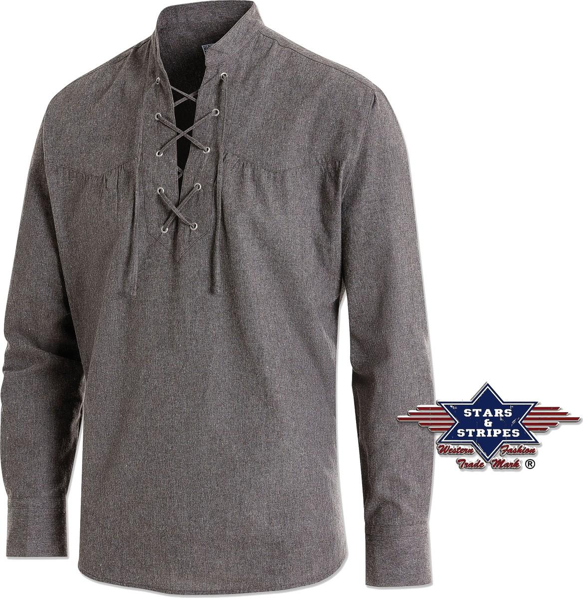 Stars & Stripes Herren Westernhemd »COLUMBUS« Oldstyle Grey Grau