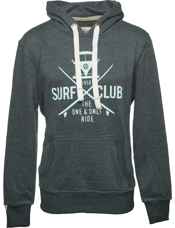 Herren Hoodie VW Bulli »SURF CLUB« Grau Cyan