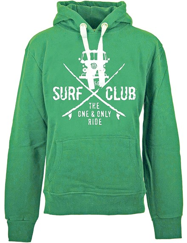 Herren Hoodie VW Bulli »SURF CLUB« Grün Weiß