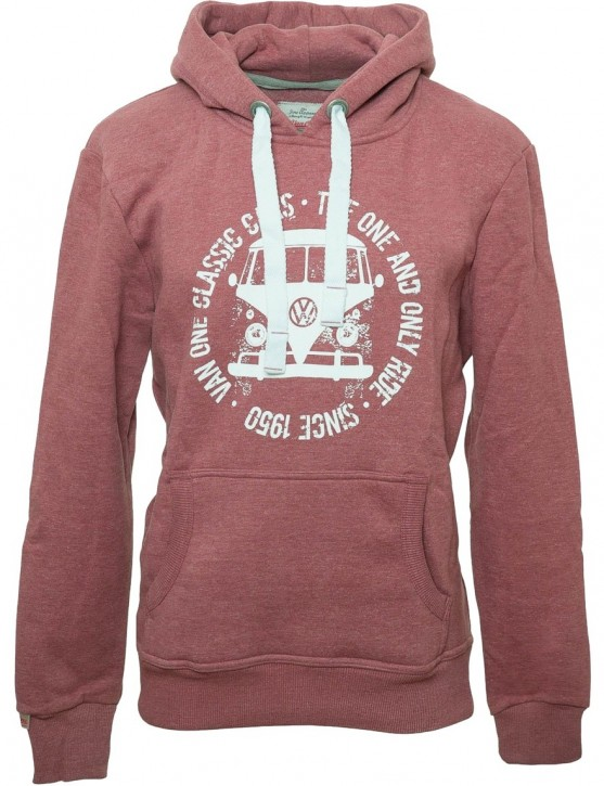 Herren Hoodie VW Bulli BULLI FACE USED New Red / White