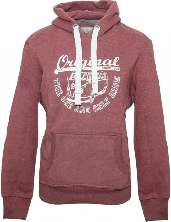 Herren Hoodie VW Bulli ORIGINAL RIDE New Red / White