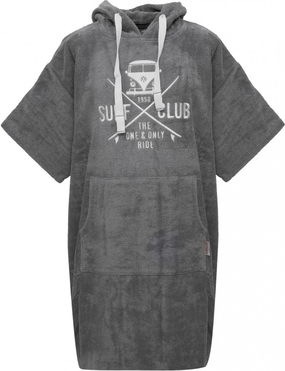 Surf Poncho VW Bulli »SURF CLUB« Grey White