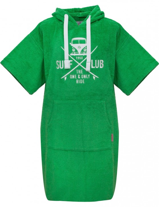 Surf Poncho VW Bulli »SURF CLUB« Green White