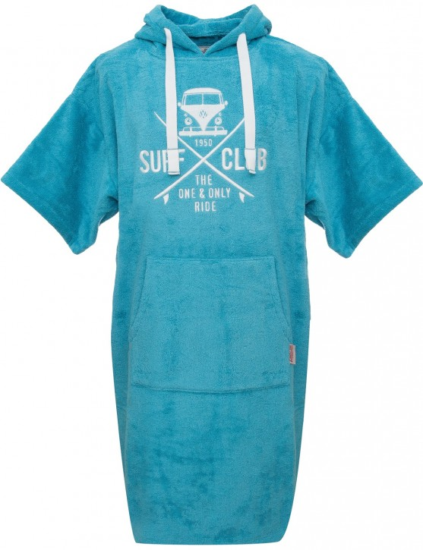 Surf Poncho VW Bulli »SURF CLUB« Turquoise White