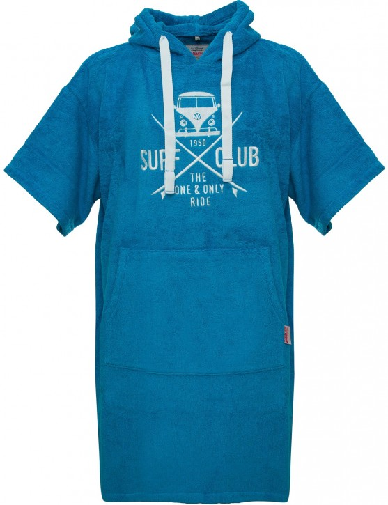 Surf Poncho VW Bulli »SURF CLUB« Blue White