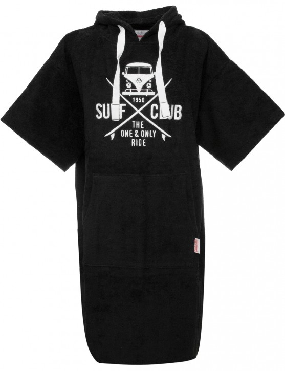 Surf Poncho VW Bulli »SURF CLUB« Black White