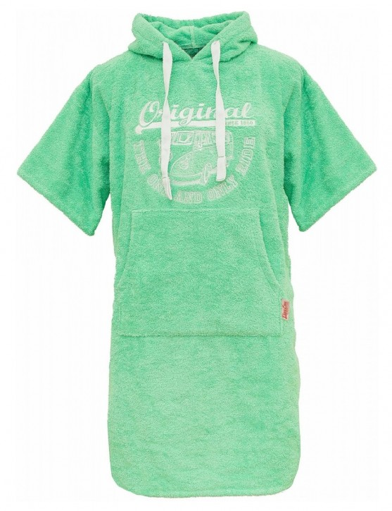 Surf Poncho VW Bulli ORIGINAL RIDE Apple Green / White Gr.L/XL
