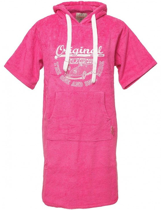 Surf Poncho VW Bulli ORIGINAL RIDE Pink / White Gr.L/XL
